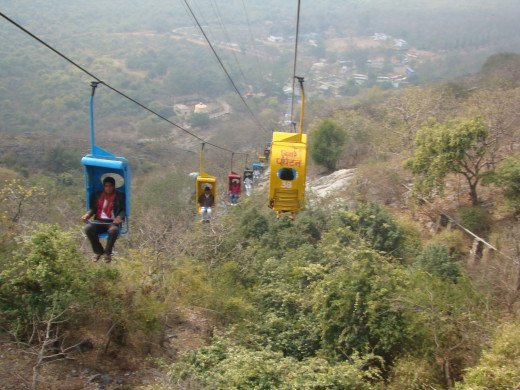 Rajgir Chairlift Going Downhill