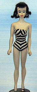 Barbie in her debut 1959