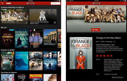 Netflix Instant library- thousands of films and TV series available to stream instantly- Part 4