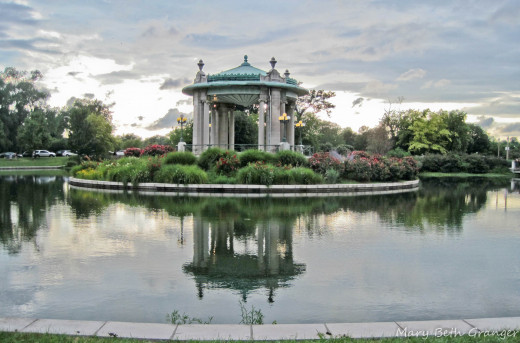 Gazebo in front of Muny in Forest Park