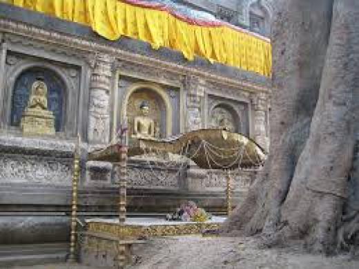 The Diamond Throne At Bodh Gaya
