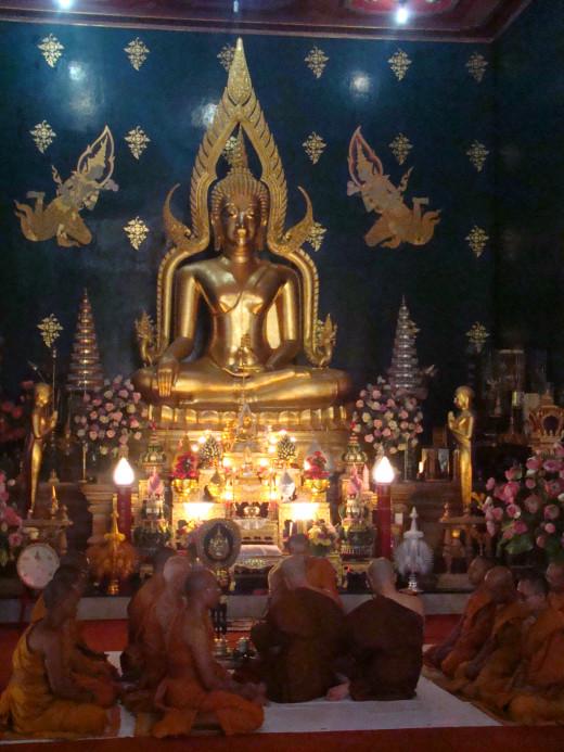 Monks At Thai Temple, Bodh Gaya