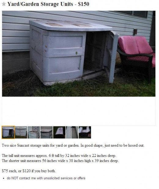 Craigslist ad with clear description of item and price.