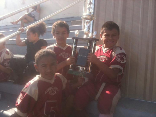 Winning their rival trophy