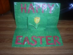 This tutorial will demonstrate how to make a cute Happy Easter pop-up card.