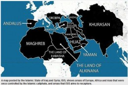 This is the ISIS plan to retake the areas in black.