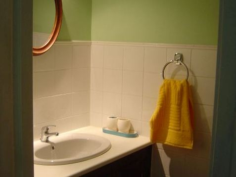 Clean basin, shower, tiles and mirrors