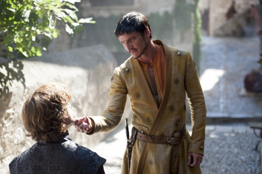 Oberyn Martell in talk with Tyrion Lannister