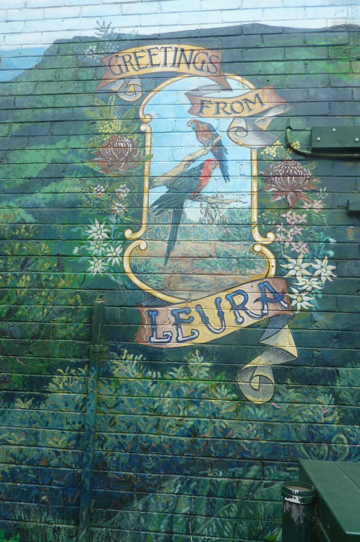 Mural in Leura Village - the perfect spot to stop for lunch
