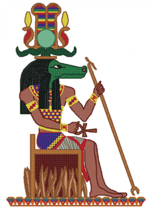 Sobek the Egyptian Nile God or the army, military and fertility.