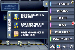 Jetpack Joyride has objectives and daily goals for you to complete for level ups and special items.