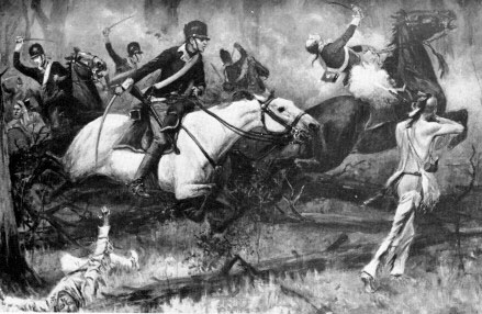 A later depiction of the Battle of Fallen Timbers from Harper's Magazine