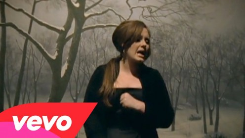 Adele in the music video for Hometown Glory