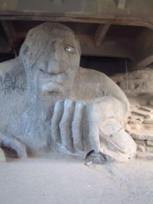 the Fremont Troll, photo by Relache