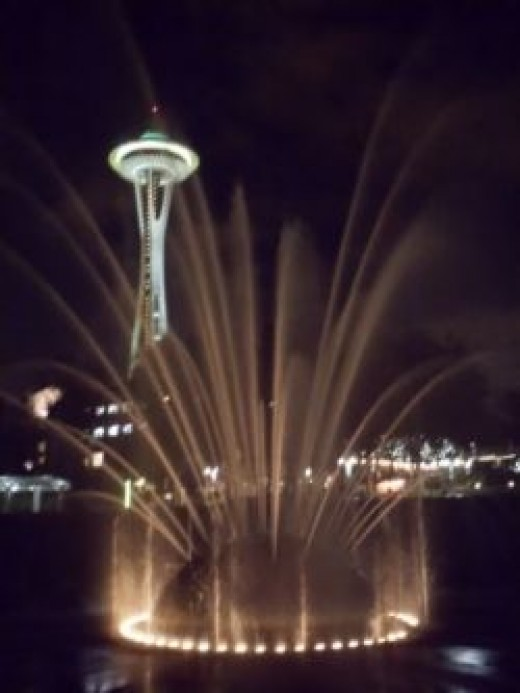 Space Needle and Fountain, photo by Relache