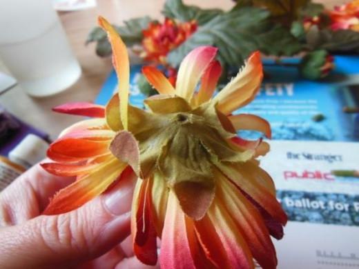 trimmed flower,