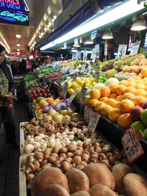 The Pike Market offers fresh, local produce and food year-round