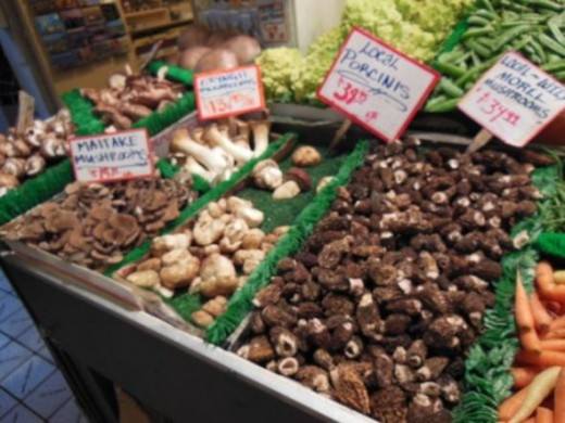The Pacific Northwest has lots of local mushrooms!