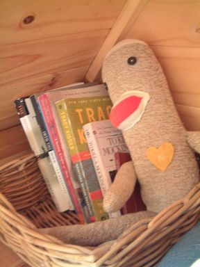 This tiny basket was the sole extra anything in the loft aside from the bed.