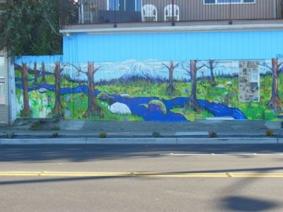Mural on 85th, across from the Fred Meyer
