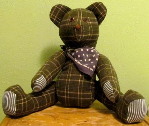 Teddy Bear Made With Shirt