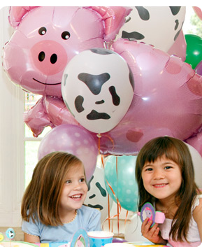Decorate your party room for added fun!