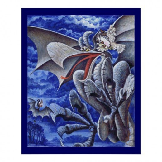 Aldred and the Gargoyle poster, available at Zazzle