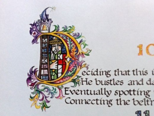 Another example of Colin Mason's beautiful illuminated calligraphy