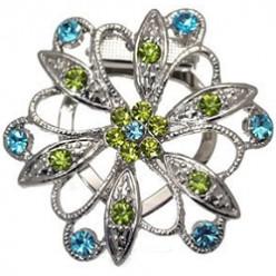 Stylish Crystal Scarf Clips