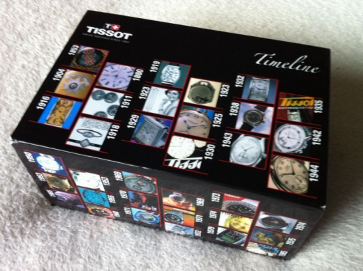 The Tissot Glam Sport range of watches arrive in a smart presentation box.