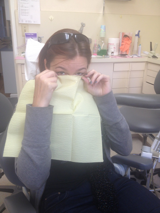 Gina isn't a fan of the dentist chair