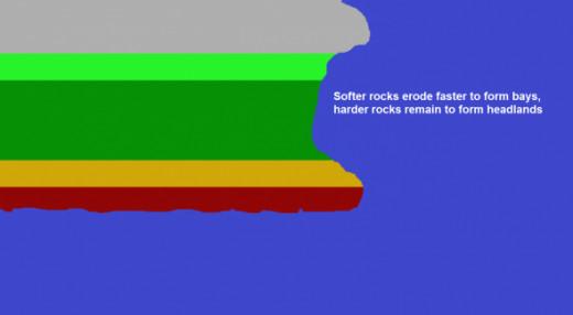 simplified diagram of Dorset Coast