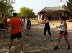 Teaching Canne de Combat in Serbia