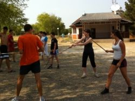 Teaching Canne de Combat in Serbia