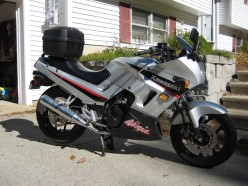 His 2005 Kawasaki Ninja 250