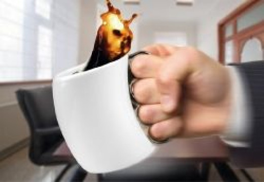 funny coffee mugs - brass knuckles coffee mug