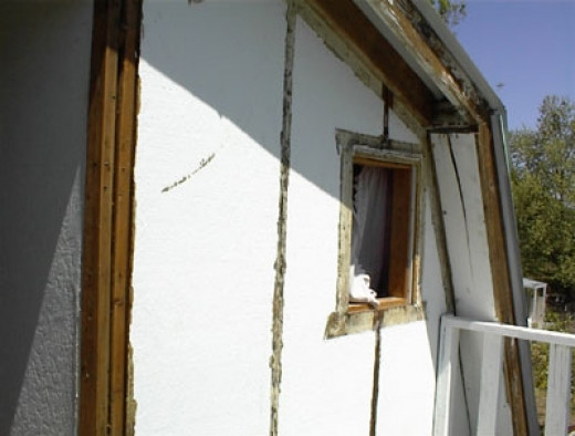 The bathroom window was removed. It was later put back.