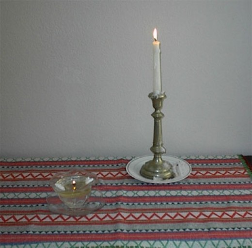 We have lighted our candles at the beginning of Day 1-- the day when we expect to have guests dropping by to great us.