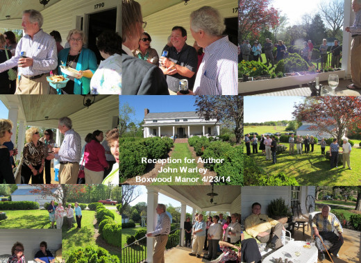 reception for John Warley at Boxwood Manor