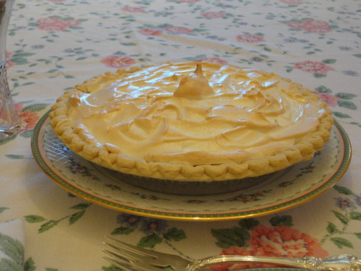 lemon pie recipe in church cookbook