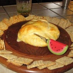 Baked Brie Stuffed With Dried Fruit