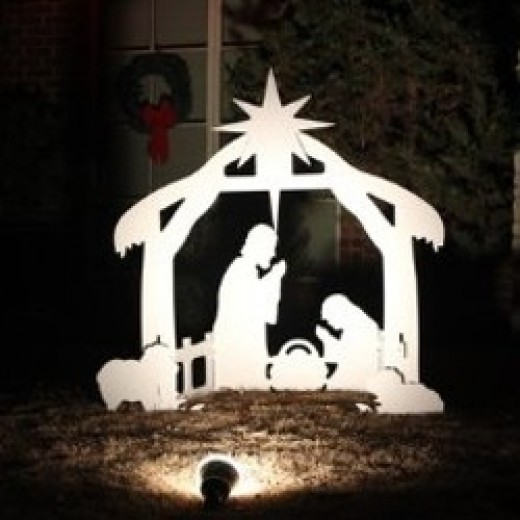 Photo Credit: Outdoor Nativity Scene Set - Holy Family as seen on Amazon.com. See below