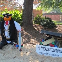 Photo Credit: Photo of Pendleton Town Hall Scarecrow display taken by OhMe
