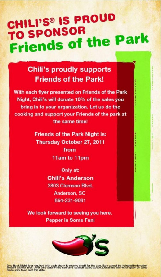 Eat at Chili's for Friends of the Park