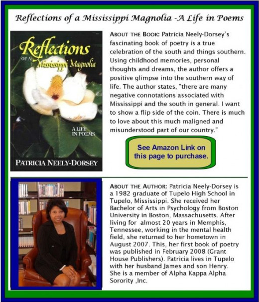 Patricia's poems will bring a smile to your face and a warm feeling in your heart.