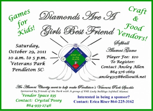 Diamonds Are A Girls Best Friend Softball Charity Event