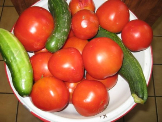 Fresh Tomatoes from the garden- Now, I can make another Tomato Pie! I sure hope they have planted another great garden this year.