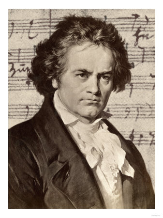 Ludwig von Beethoven.  Poster available on Allposters.com.  Click link below for more information.
