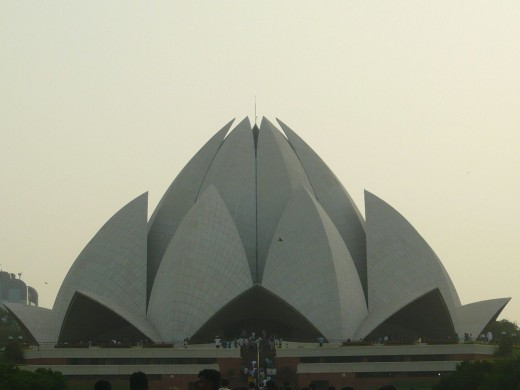 The construction of Lotus Temple is fantastic