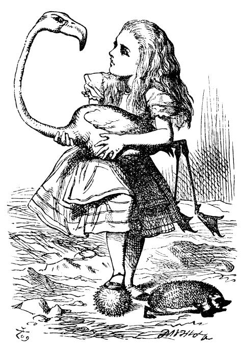 Alice in Wonderland illustration by John Tenniel.